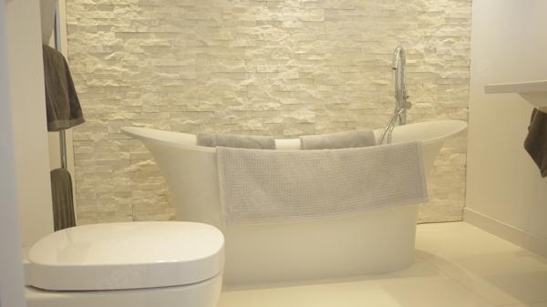 Natural Stone Bathroom Wall Feature, Bathroom Stone Wall