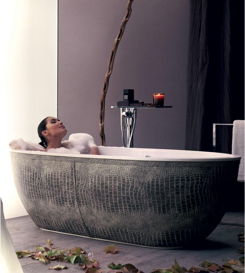 leather clad bath