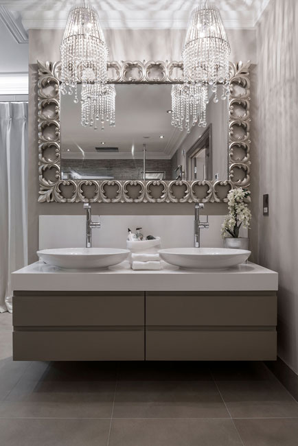 Luxury Vanity Furniture With Stone Top
