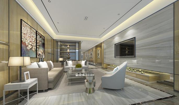 Marble Porcelain Living Room Pic
