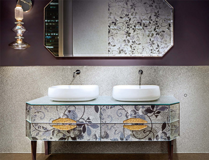 Luxury mosaic accent walls
